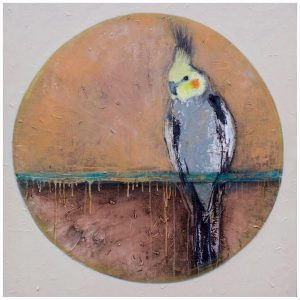 painting - bird - canvas - art By Anita Barrett