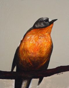 painting - bird - camvas - art by Anita Barrett